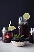 A blackberry mojito