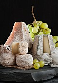 Pouligny, Chavignol and Valencay (soft French goat's cheese)