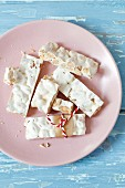 White turron, Spanish almond nougat