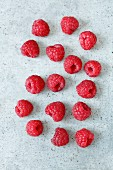 Raspberries (seen from above)