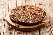 Bean and chocolate cake with walnuts