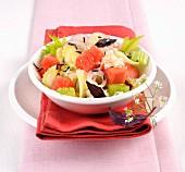 Wassermelonensalat mit Staudensellerie und Feta