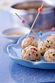 Prawn and ginger balls
