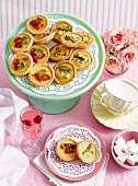 Mixed mini quiches