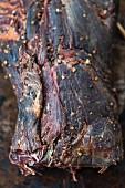 Getrocknetes Rindfleisch (Nahaufnahme)