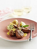 Lamb Cutlets with Mint Hollandaise