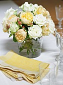 Table Setting with Roses