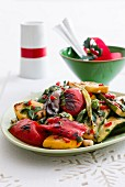Grilled vegetable salad with peppers and courgettes as a Christmas sides dish