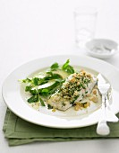 Baked Fish with Crunchy Nut Topping