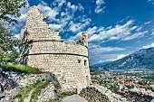 Bastion Il Bastione above Riva del Garda, Riva, Lake Garda, Italy