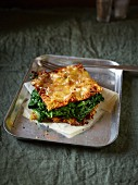 Potato spiral lasagne with spinach