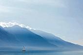 Lake Garda with Monte Baldo, Italy