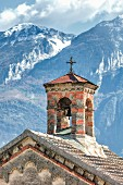 Chapel of the cemetery in Pieve, Tremosine, Lake Garda, Italy