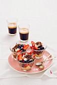 Chocolate berry trifle