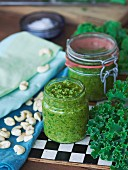 Kale pesto with cashew nuts