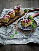 Yoghurt cake with rhubarb