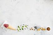 Soft-serve ice cream with ingredients