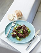 Turkey liver with sherry