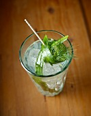 Steinhäger tonic with cucumber and dill