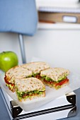 Avocado, Celery & Tomato Sandwiches for Lunch