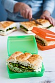 Ricotta & Grilled Vegetables Sandwiches for Lunch