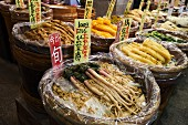 Radish at Nishiki market in Kyoto, Japan