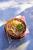 Fried noodle salad