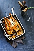 Roast chicken with garlic, herbs and lemon