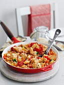 Chicken and vegetable jambalaya