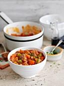 Baked-Beans-Suppe mit Schinken