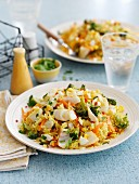Quick kedgeree with smoked haddock