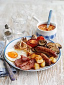 A classic English breakfast