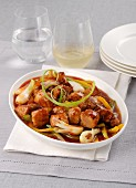 Pork ragout with vegetables