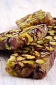 Croccante al pistacchio (Italian pistachio brittle)
