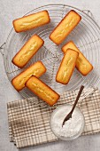 Financiers and grated coconut