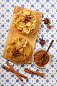 Apple tartlets with star anise and cinnamon