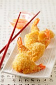 Battered prawns with the chilli dip (Asia)