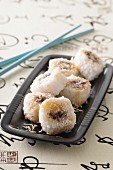 Sweet maki with chocolate and banana (Japan)