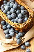 A basket of fresh blueberries