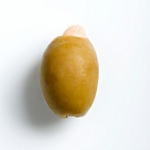 A Greek olive stuffed with an almond