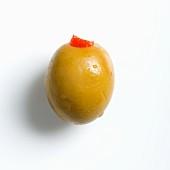 A Spanish Manzanilla olive