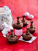 Choc nut cupcakes