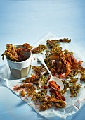Crispy-fried seaweed dusted with paprika