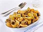 Fritto alla romana (battered vegetables, Italy)