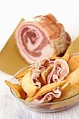 Pancetta & Gnocco fritto (Speck und frittierter Brotteig, Italien)