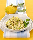 Risotto alle zucchine (courgette risotto with lemon, Italy)