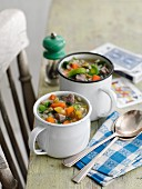 Scotch broth (vegetable soup with lamb)