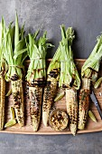 Grilled corn cobs with chorizo and miso butter