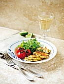 Courgette and mozzarella fritters