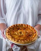 A festive beef pie